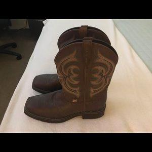 Justin Gypsy Cowgirl boots  sz 10 B,Mid calf